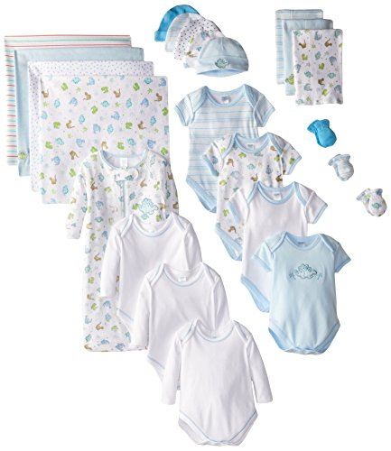 SpaSilk GIFT Baby-Girls Newborn Essential Baby Gift Set, Blue Boy, 0-6 Months, 23-Piece