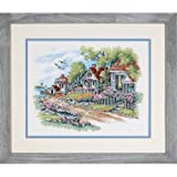 Dimensions 'Cottages by  Sea' Stamped Cross Stitch Kit, 14'' W x 11'' H (Tamaño: Dimensions Needlecrafts)