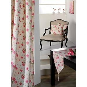 gardinen rosenmuster angebote auf waterige. Black Bedroom Furniture Sets. Home Design Ideas