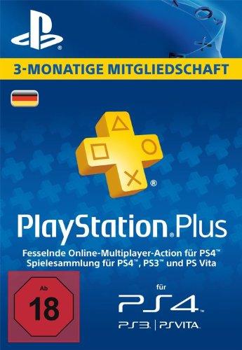 PlayStation Plus Mitgliedschaft - 3 Monate [PS4, PS3, PS Vita PSN Code - deutsches Konto]