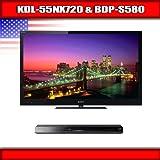 "Sony KDL-55NX720 - 55"" BRAVIA 3D LED-backlit LCD TV + Sony BDP-S580 - 3D Bl ...."