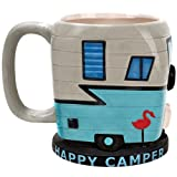 Happy Camper Mug - RV Trailer Shaped Camping Coffee Cup