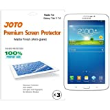 JOTO Premium Screen Protector Film Anti Glare, Anti Fingerprint (Matte Finish) for the Samsung Galaxy Tab 3 7.0 Inch Tablet with Lifetime Replacement Warranty (3 Pack)