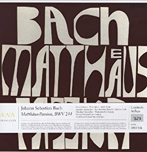 Bach: MatthausPassion [VINYL] by Berlin Classics