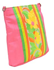Stylocus - Ladies Sling Bag-Neon Handbag -Thread Embroidery Bags