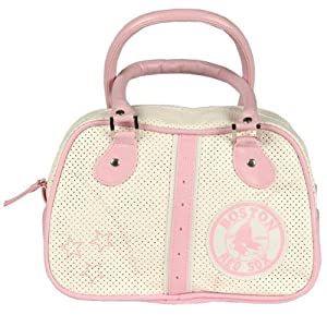 Boston Red Sox Logo Merchandise Pink Ladies Leather Handbag