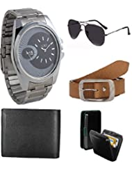 Gift Set Of Watch Sunglass Belt Wallet And Cardholder - B019RH0MCW