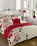 Bed In A Bag Bedding Duvet Set - Odette Red - Double