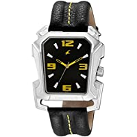 Fastrack Men Leather Analog Black Watch - 3131SL02