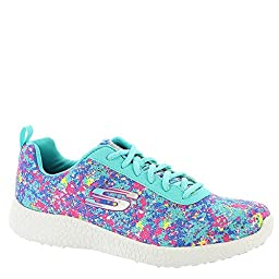 Skechers Women\'s Burst Illuminations Fashion Sneakers Turquoise/Multi 8 B(M) US