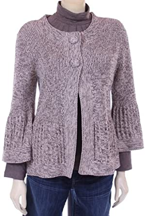 Women's Marled Rib Border Cardigan in Oatmeal Marl by Tribal - M