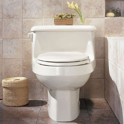 American Standard 2037.100.222 Lexington One-Piece Elongated Toilet with Seat, Linen