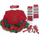 TANZKY� Baby Girls' 4PCs Christmas Tu...