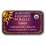 Dr. Bronner's & Sun Dog's Magic Organic Balm for Dry/Chapped Skin or Tattoos, Naked, 0.5-Ounce Tin