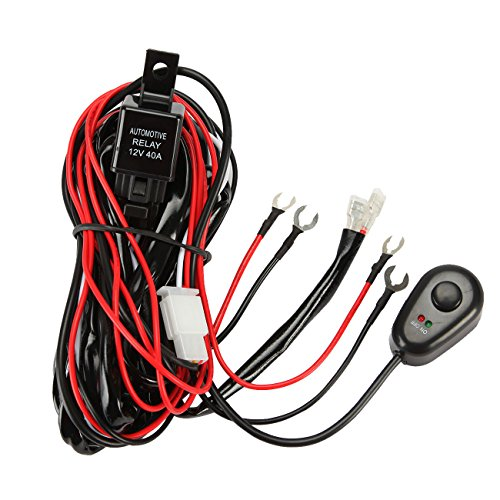 Universal Wiring Loom Harness Kit With Fuse And Relay For Led Work Light Bar