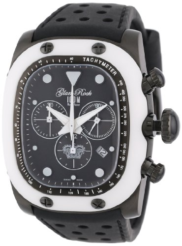 Glam Rock Unisex GR70108 Gulfstream Collection cron-grafo Black Silicon Reloj