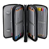 TraveT Handy Wareable Oxford Pencil Bag 72 Slots Pencil Organizer Portable Watercolor Pencil Wrap Case for Art Drawing