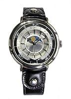 江戸之刻 月齢 腕巻き仕様 銀 (文字盤) 平成式 和時計 ムーンフェイズ