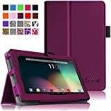 Fintie Dragon Touch 7'' Y88X / Y88 Folio Case - Premium Vegan Leather Cover with Stylus Holder for Dragon Touch 7'' Dual Core Y88X /Y88 Google Android Tablet(will not fit Dragon Touch A7) - Purple