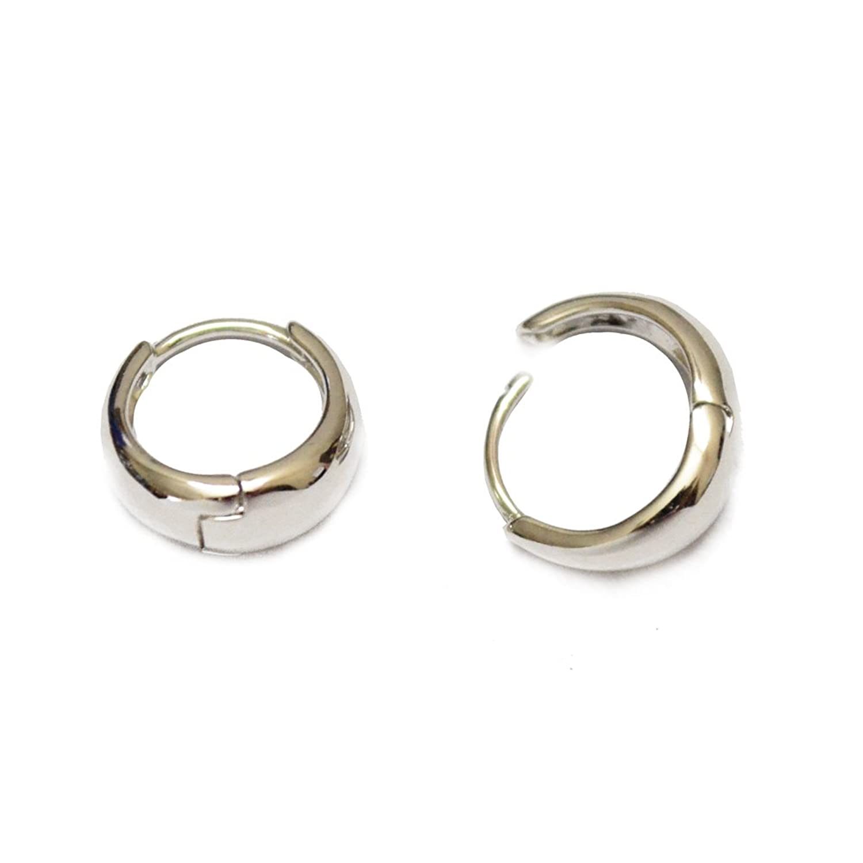 Via Mazzini Salman Khan Inspired Silver Metal Kaju Bali Hoop Earrings For  Men And Women