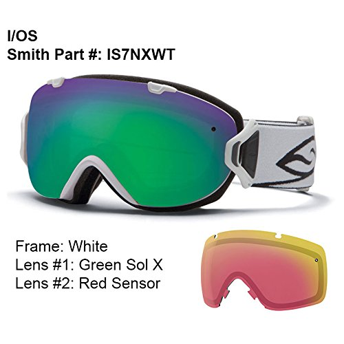 Smith Optics I/OS Goggle (White Frame, Green Sol X Mirror Lens)