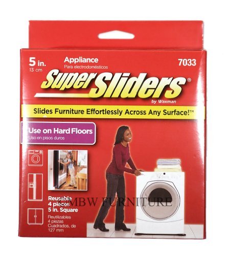 Waxman 5 Inch Square Appliance Reusable Super Sliders 4 Pack (4703395N) front-535124
