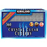 Kirkland Signature Crystal Clear Cutlery - 360 ct