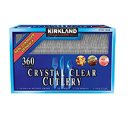 Crystal Clear Cutlery 360 Pieces (180 Forks - 120 Spoons