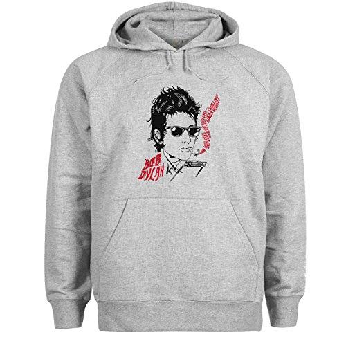 Bob Dylan Rock King Rolling Stones Red Grigio Felpa con cappuccio unisex Medium