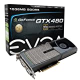 EVGA GeForce GTX 480 Superclocked 1536 MB GDDR5 PCI Express 2.0 2DVI/Mini-HDMI SLI Ready Limited Lifetime Warranty Graphics Card, 015-P3-1482-AR