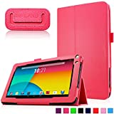 Infiland Premium Vegan Leather Case Cover for 9-Inch Android Tablet inclu. 9' Upgraded Dual Core Android Tablet PC, Haehne 9 Inch Android Tablet, JYJ 9 Inch Android 4.4 Kitkat Tablet PC, YONES 9' AMDROID 4.4 KITKAT TABLET PC, ProntoTec 9 Inch Touch Screen Tablet PC, Tagital T9X 9' Quad Core Android Tablet , TotalTab V3 9', Afunta 9', TabExpress 9' (PLEASE check the complete compatible tablet list under Product Description)(Red)