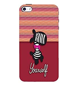 PrintDhaba Cartoon D-5793 Back Case Cover for APPLE IPHONE 5S (Multi-Coloured)