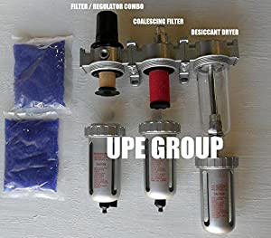 "1/2"" Compressed Air Particulate Filter Water Trap / Pressure Regulator / Desiccant Air Dryer / Coalescing Filter For Compressed Air Systems Great For Plasma Cutter by UPE_GROUP"