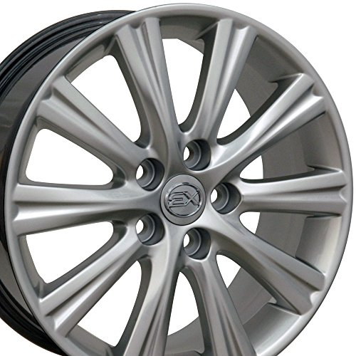 17-inch Fits Lexus - ES350 Aftermarket Wheels - Hyper Silver 17x7 - Set of 4 (Lexus Is300 Rims Set compare prices)