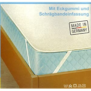 Molton Matratzen Matratzenauflage 160x200 cm atmungsaktiv made in germany