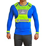Reflective Vest For Running Or Cycling Including Two 3M Safety Reflective Bands For Women And Men With Pockets...