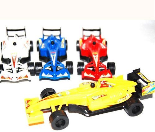"Pull Back 6"" F1 Racer Cars ,Assorted Color Set of 4,Color may vary"