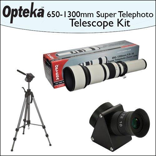 "Opteka 650-1300Mm Hd Telephoto Zoom Lens + Lens Converter To Telescope Kit + Opteka 70"" Professional Tripod"