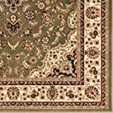 """Persian Classic Green 2'3"""" x 3'11"""" Area Rug Oriental Floral Motif Detailed Classic Pattern Antique Living Dining Room Bedroom Hallway Office Carpet Easy Clean Traditional Soft Quality"""