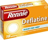 Rennie Deflatine Trapped Wind & Bloatedness Relief Tablets Sugar-Free Mint - 18 Tablets