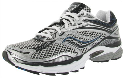 Saucony Men's Progrid Omni 9 Running Shoe,Silver/Black/Blue,12 M US
