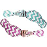 Showman Chevron Spur Straps with Silver Studs and Chevron Buckles
