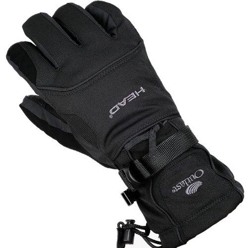 Thermolite素材 スキースノボに暖かすぎる高級グローブ(手袋)Lサイズ漆黒