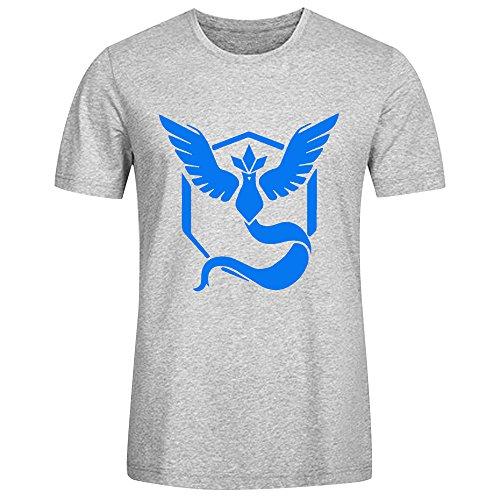 Camiseta de Pokémon GO para Hombre Gris