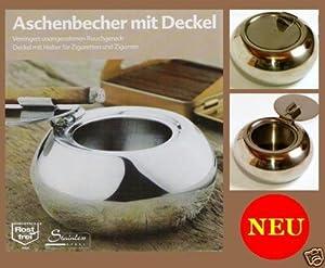 lounge aschenbecher edelstahl mit deckel retro design k che haushalt. Black Bedroom Furniture Sets. Home Design Ideas
