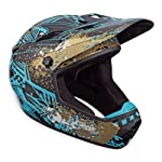 Bell Drop BMX/Downhill Helmet, Black/Teal Manic, Large
