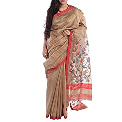 Kiara Crafts Silk Saree (kc-003_Brown)