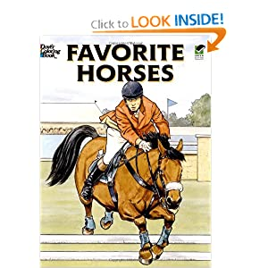 Horses Stained Glass Coloring Book (Dover Nature Stained Glass Coloring Book) John Green, Coloring Books and Horses