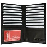 Genuine Leather Credit Card Holder Wallet 19 Card Slots + 1 ID Window
