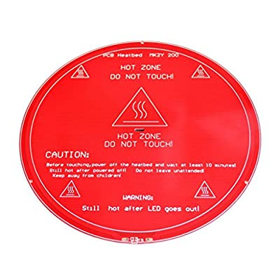 FICBOX® New Delta Rostock MK2Y Round Heatbed Similar to MK3 3D printer PCB Heated Bed Plate Reprap Heating Diameter 200mm